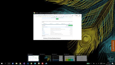 Vindows 10 giver også mulighed for at arbejde med flere virtuelle skriveborde.